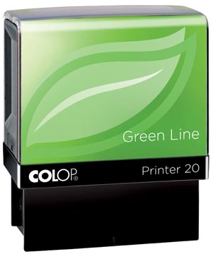 Colop stempel Green Line Printer Printer 20, max. 4 regels, voor Nederland, ft. 14 x 38 mm