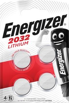 Energizer knoopcellen lithium CR2032, blister van 4 stuks