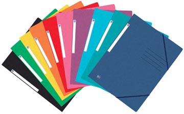 Elba Oxford Top File+ elastomap, voor ft A4, geassorteerde kleuren, pak van 25 stuks