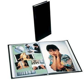 Rillstab showalbum A4 20 tassen, zwart
