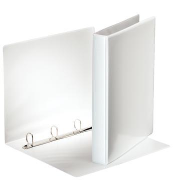 Esselte personaliseerbare ringmap, rug van 4,4 cm, 4 D-ringen van 25 mm, wit