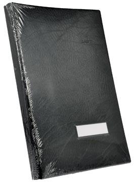 Class'ex handtekenmap, plastic omslag, zwart