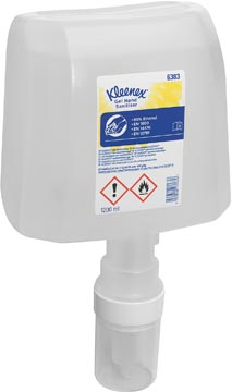 Kimberly-Clark kleenex alcoholgel hand ontsmettingsmiddel, cassette dispenspenser, helder, 1,2 liter