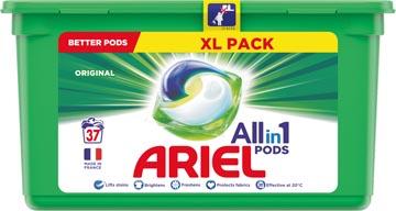Ariel 3 in 1 wasmiddel pods Original, doos van 37 stuks