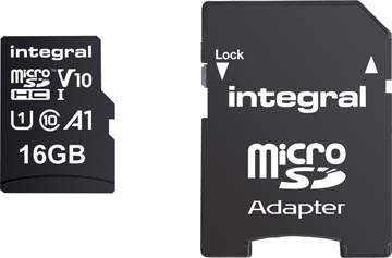 Integral microSDHC geheugenkaart, 16 GB
