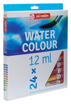 Talens Art Creation aquarelverf tube van 12 ml, set van 24 tubes in geassorteerde kleuren