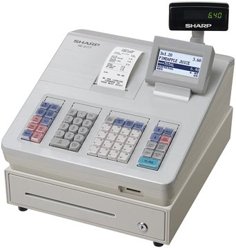 Sharp thermische kasregister XE-A177WH, wit