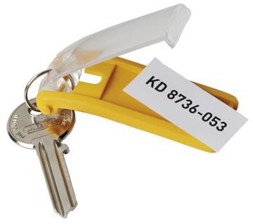 Durable sleutelhanger Key Clip, geel, pak van 6 stuks