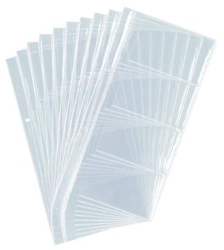 Durable visitekaartzichttas voor Visifix, zakje met 10 stuks
