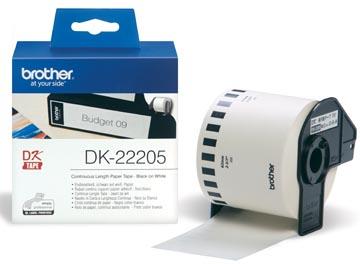 Brother doorlopende labelrol voor QL, ft 62 mm x 30,48 m, papier