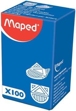 Maped hoekpapierbinders, pak van 100 stuks